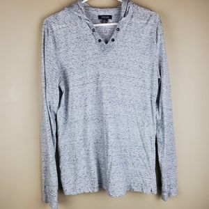 Kenneth Cole Reaction Striped Knit Hoodie - Size M
